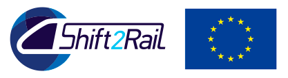 Shift2Rail logo and Europe flag