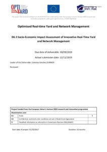 thumbnail of OptiYard Del63 Socio-Economic Impact Assessment of Innovative Real-Time Yard and Network Management