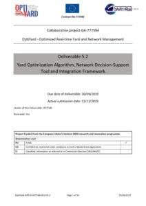 thumbnail of OptiYardDel52 Yard Optimization Algorithm, Network Decision-Support Tool and Integration Framework