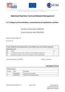 thumbnail of OptiYard_Deliverable_D7.3_Dissemination_Communication_ExploitationActivities_V02_Final